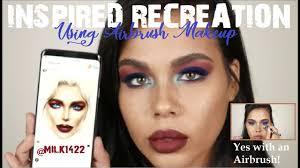 Milk1422 Facechart Using Airbrush Makeup Retro Cranberry Look