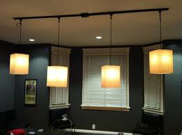 kitchen rail lighting. Track Lighting With Pendants And Four Lamps Plus Shades On WIndows Kitchen Rail S