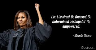 Michelle Obama Quotes Beauteous Michelleobamaquotefocusedempowered Goalcast