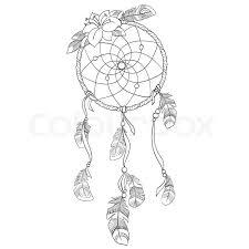 How To Draw A Dream Catcher Dreamcatcher vectorillustration Stock Vector Colourbox 48