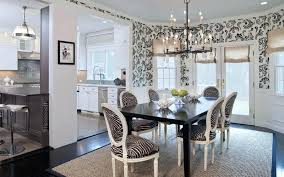 awesome black and white striped dining room chairs image concept
