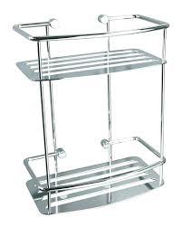 free standing shower caddy chrome corner