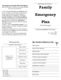 Sample Emergency Disaster Plan