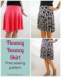 Free Skirt Patterns Inspiration Free Skirt Pattern The Flouncy Bouncy Skirt So Sew Easy