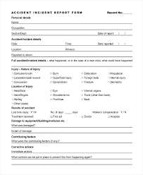 Incident Report Template Medication Incident Report Form Template