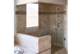 half wall shower enclosure dumound enclosures st louis glass works wallss home design 9
