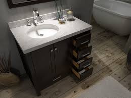 cambridge 37 inch single bathroom vanity left offset sink