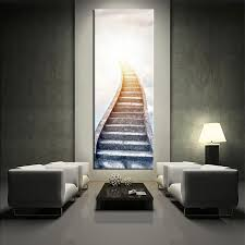 on room wall art design with vertical wall art