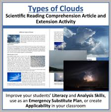 The Different Types Of Clouds Reading Article Grade 8 And Up