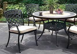 charissa antique black round patio