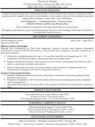 Paralegal Resume Samples Immigration Paralegal Resume Sample