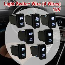 Led Light Bar Switch Wiring Us 4 62 26 Off 12v Car 4 Wiring Blue Led Light Bar Switch On Off For Toyota Landcruiser Hilux Prado In Car Switches Relays From Automobiles