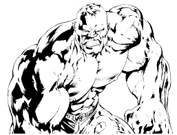 Kleurplaat Hulk 8