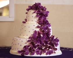beautiful white and purple wedding cakes. Weddingcakepurpleflowerswhitecake Throughout Beautiful White And Purple Wedding Cakes