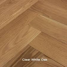 white oak clear herringbone