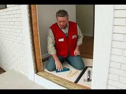 install front doorHow to Install A PreHung Exterior Door  YouTube