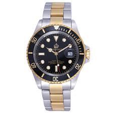 online get cheap sapphire crystal watch glass aliexpress com reginald famous brand two tone mens watch rotatable bezel sapphire glass stainless steel quartz wrist