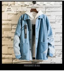 Us 19 05 45 Off New Hooded Denim Jacket Mens Mens Hip Hop Mens Retro Denim Jacket Jacket Street Casual Bomber Jacket Harajuku Fashion Coat In