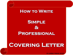 Simple Covering Letter Format Simple Covering Letter For