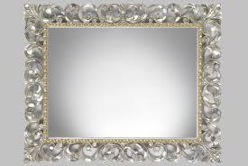 rectangle mirror frame.  Frame Rectangular Mirror U2013 Handcarved Silver Wood Frame To Rectangle Mirror Frame E