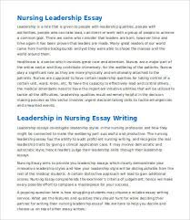 leadership essay samples examples format  nursing leadership essay sample