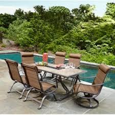 7 piece patio dining set. Outdoor Ty Pennington Palmetto 7 Piece Patio Dining Set *Limited Availability*, Brown E