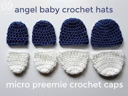 Crochet Preemie Hat Pattern Amazing Crochet Little Caps For Micro Preemies With This Free Pattern