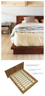 Bed Frame Design Top 25 Best Rustic Platform Bed Ideas On Pinterest Platform Bed