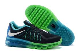 Blue Green Online Nike Air Max 2015 Mens Running Shoes Black White Blue Lagoon