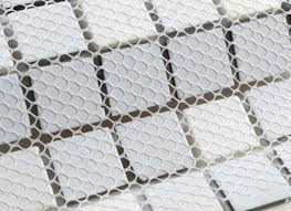 white and black glass mosaic tile for decorative kitchen