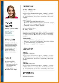It Resume Format Download In Word Word Document Resume Template Free Templates Free Download Word