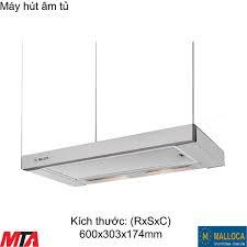 Máy hút mùi âm tủ Malloca K1507 màu inox