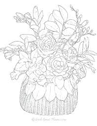 Free Easy Coloring Pages Printable Easy Flower Coloring Pages Real