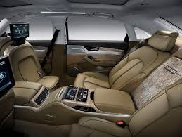 Inside a luxury car
