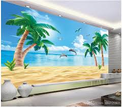 3d wallpaper custom photo non woven mural hd beach coconut trees background 3d wall murals wallpaper for living room decoration painting wallpapers photos
