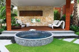mosaic is also a good material to make your hot tub design special