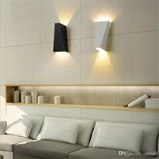 2019 10w led modern light up down wall lamp square spot light sconce lighting home indoor wall lights outdoor waterproof wall lamps black white from cnmall