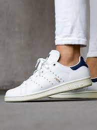 adidas Stan Smith Homme CQ2870 Blanche/Noble Ink - chaussurewho.com