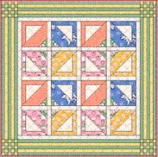 Free Basket Baby & Doll Quilt Pattern Instructions & layout of crib basket quilt Adamdwight.com