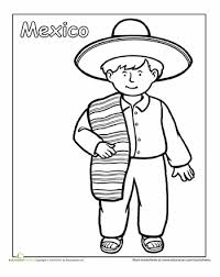 Small Picture Multicultural Coloring Mexico Mexican traditional clothing