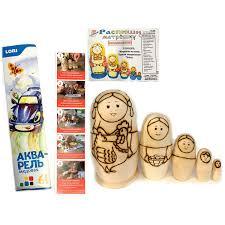 mup800 set of 5 unpainted wooden blank matryohka nesting dolls