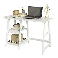 home office table. SoBuy® FWT16-W, White Home Office Table Desk Workstation Computer With 2