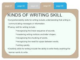 Writing Skills Writing Skill