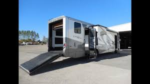 used 2016 newmar canyon star 3920 toy hauler cl a motorhome