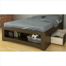 Full Storage Bed With Headboard Minimalist Wooden Platform Bed Frame