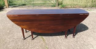 best antique round drop leaf table
