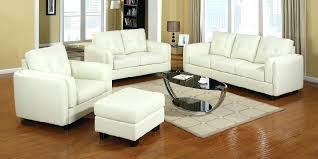 s off white leather couch sectional sofa with ottoman