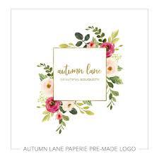Premade Logos Autumn Lane Paperies Premade Market 1k