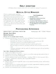 Resume Examples For Medical Assistant Inspiration Office Manager Resume Sample Combined With Office Manager Resume