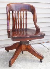 antique swivel office chair. Antique Oak Swivel Office Chair Secretary E